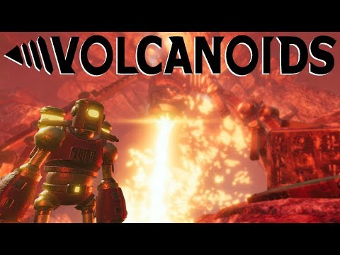 Digging into A Volcano to Unearth This Islands Secrets – GIANT Enemy Machines – Volcanoids Gameplay