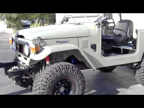 EPIC 1975 Toyota Landcruiser FJ40 with 1970 era LT1 350 V8 Engine
