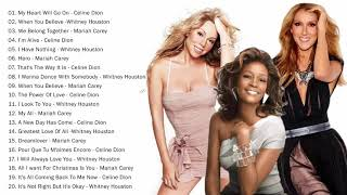 Mariah Carey, Celine Dion, Whitney Houston Greatest Hits playlist - Best Songs of World Divas