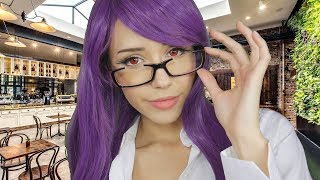 ASMR - Rize from Tokyo Ghoul goes on a Date With You (whispering, camera tapping)