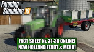 LS19 Fact Sheet Nr. 31-36  New Holland,Fendt,JCB & Mehr