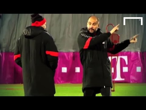 Pep Guardiola's crazy hands!