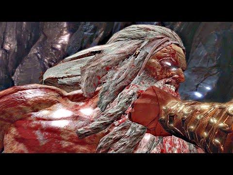 God of War 3 - Kratos Defeats Zeus & Gaia (Zeus Final Boss)