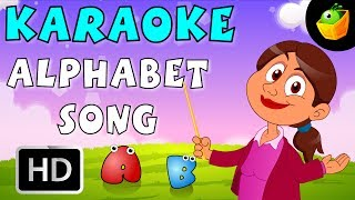 The Alphabet Song - Karaoke Version With Lyrics - Cartoon/Animated English Nursery Rhymes For Kids