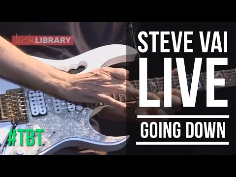 Steve Vai Live Performance - Going Down - Freddie King Cover - Licklibrary