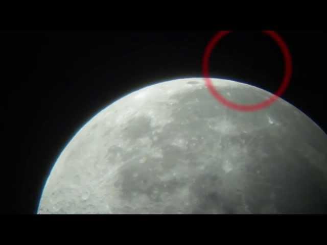 UFO Moon. НЛО около Луны.