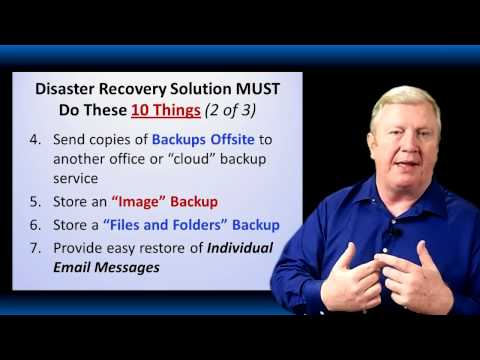 What is the Best disaster recovery solution for small business' server