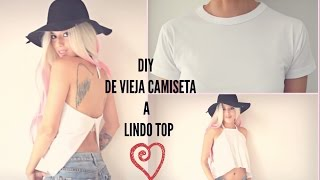 DIY lindo top con camiseta vieja
