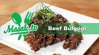 Korean Beef Bulgogi | Resep #021