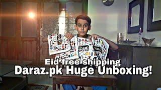 Daraz.pk Huge Unboxing   EID festival   Free Shipping!