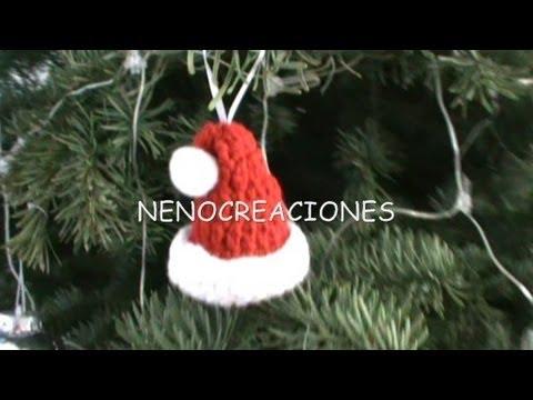 Como tejer gorrito navide o para decorar varios usos - Como decorar para navidad ...