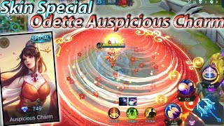 New Skin Special Odette Auspicious Charm Gameplay With No Cooldown - Mobile Legends