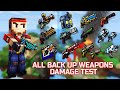 Pixel Gun 3D - ALL Back Up Weapons Shots Damage + Reloading Animations