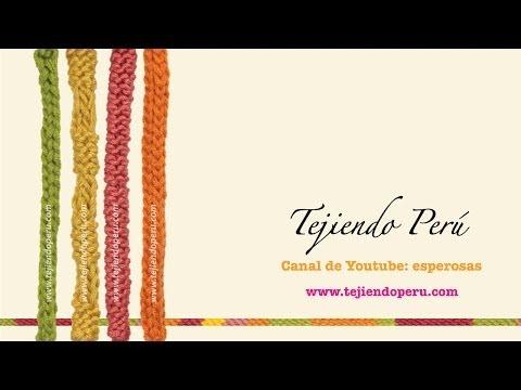 I-cord o cordón tubular tejido en agujas de dos puntas, circular y convencionales