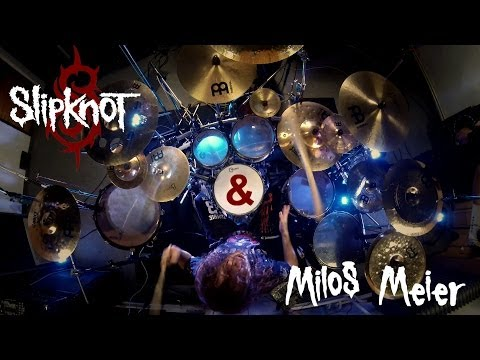 Miloš Meier - Slipknot - Psychosocial + Drum Solo (drum Cover) video