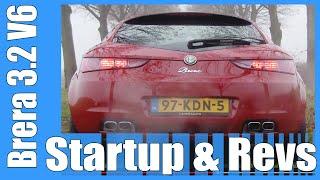 Alfa Romeo Brera 3.2 V6 Q4 LOUD! StartUp + Revs Exhaust Sound