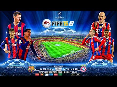 FC Barcelona vs Bayern Munich | UEFA Champions League | Semifinales | FIFA 15 Simulación