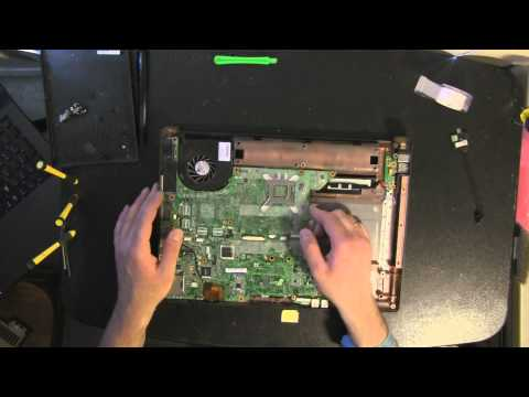 COMPAQ F700 laptop take apart video, disassemble, how to open disassembly