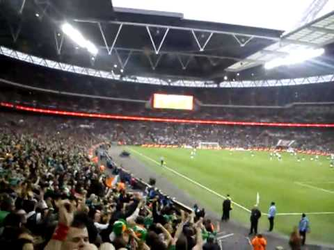 England v Ireland, Shane Long's goal and crazy celebrations!