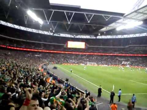 England v Ireland, Shane Long's goal and crazy celebrations!