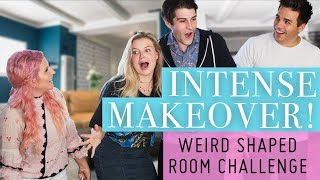 Weird Shaped Room Challenge! Drastic Makeover