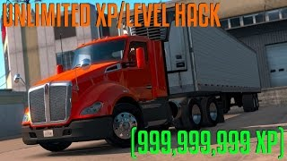 American Truck Simulator - Unlimited XP/Level Hack Tutorial (999,999,999XP)