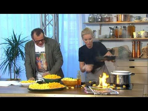 "Television host celebrates ""Cheese Doodle Day"" and everything catches fire!"