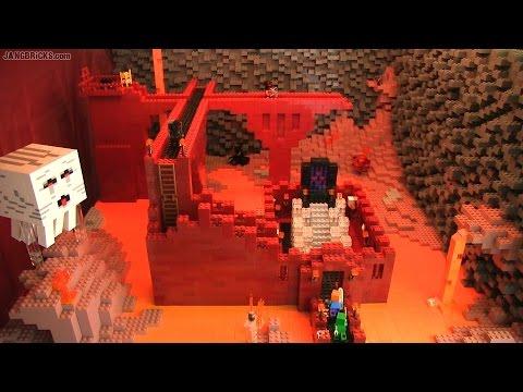 Custom LEGO Minecraft Nether realm!