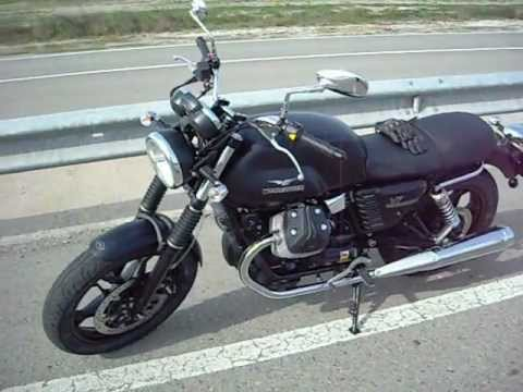 moto guzzi v7 2013 review and sound