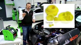 Detetar uma fuga no motor com o SMT 300 da Bosch