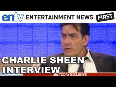 charlie sheen appeared on the today show with matt lauer speaking