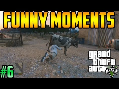 Gta 5: Funny Gameplay Moments! (Epic Fails, Deaths, Animals, Fights, Cheats, Cars, & More!) #6
