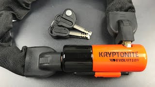 [731] Kryptonite Evolution Series 4 Chain Lock Picked