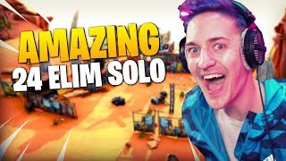 Ninja Destroys The Entire Lobby!! 24 Elim Solo