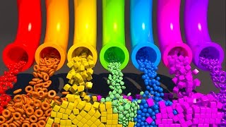 A lot of 3D Candy. Learning Colors for kids