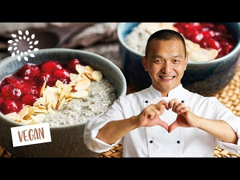 Basilikumsamenpudding mit Cranberrys – basisch