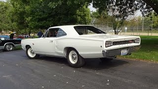 1968 Dodge Coronet R/T RT in White Paint & 440 Engine Sound on My Car Story with Lou Costabile