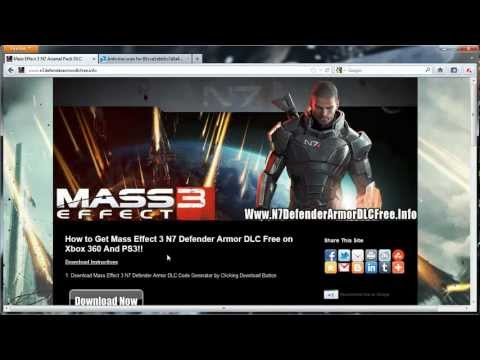 Mass Effect 3 N7 Defender Armor DLC Codes - Free - Xbox 360 - PS3