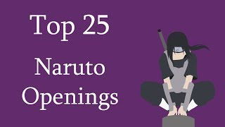 Top 25 Naruto Openings (Group Rank)