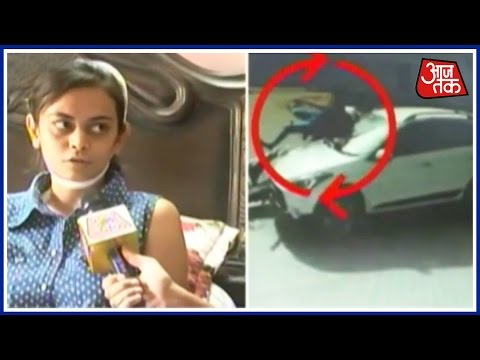 CCTV Captures Horrific Road Accident In Ahmedabad, Victim Miraculously Alive