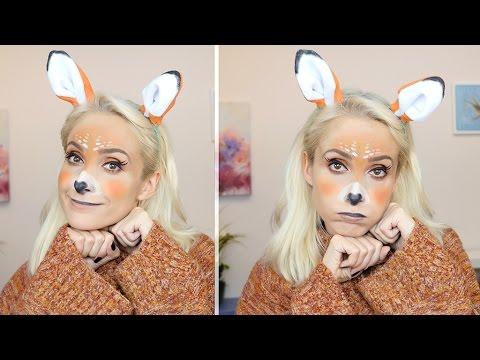 Halloween : Snapchat Bambi Geyik Makyajı   Halloween Snapchat Makeup