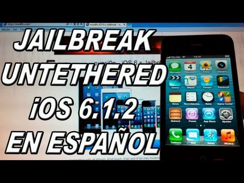 Jailbreak Untethered iOS 6.1.2  para iPhone 5/4S/4/3GS. iPod Touch 5G/4G & iPad Mini/4G/3G/2G