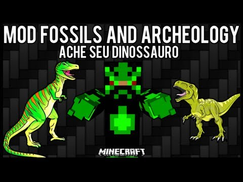 [Tutorial]MOD Fossils and Archeology - Ache seu Dinossauro Minecraft
