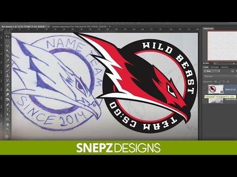 Tutorial Рисование логотипа для команды с нуля