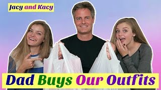 Dad Buys Our Outfits ~ Shopping Challenge ~ Jacy and Kacy