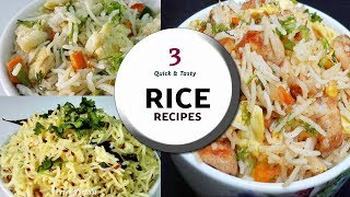 3 Quick & Tasty Rice recipes || Egg, Chicken & Jeera Rices