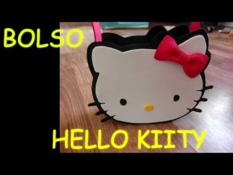 como hacer un bolso(dulcero) de hello kitty amiga keroppi de goma eva  (foami) paso a paso