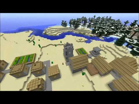 SUNDAY SEED REVIEW #1: 6 villages, blacksmith chest w/ full iron (Minecraft Xbox 360)