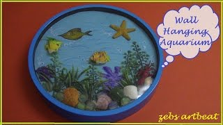 DIY Amazing Wall Hanging Aquarium (recycle old wall clock & toys)