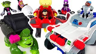 Exciting Olympic games with Marvel Hulk! Teen Titans Go transfoming vehicle, gorilla  - DuDuPopTOY